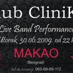 U klubu CliniKa Makao bend live performance